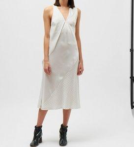 Victoria Beckham silk pinstripe midi dress